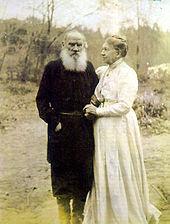 Tolstoj se ženou
